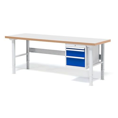 Stół warsztatowy Solid, zestaw z 3 szufladadmi, 500kg, 2000x800 mm, lamiant