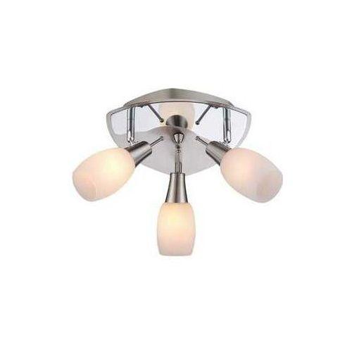 Plafon lampa oprawa sufitowa Globo Gillian 3x40W E14 srebrny/przeźroczysty 54983-3, 54983-3