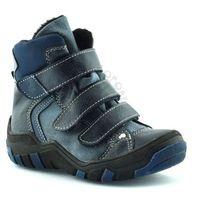 Kornecki Chłopięce buty zimowe dla dzieci  06037 - niebieski ||granatowy