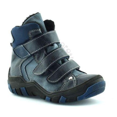 Buty zimowe dla dzieci 06037 - niebieski ||granatowy marki Kornecki