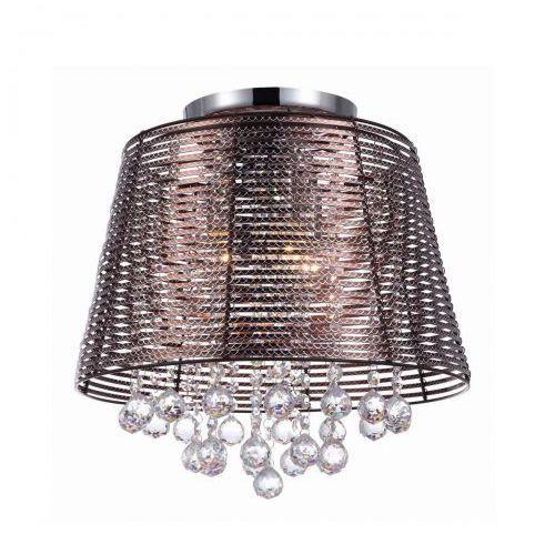 Plafon LAMPA sufitowa KUTTI MXM2129/3 BR Italux druciana OPRAWA z kryształkami crystal brązowa (5900644405313)