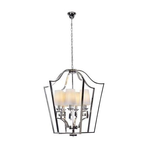Maxlight Retro lampa wisząca glasgow p0324 metalowa oprawa vintage zwis abażurki na łańcuchu satyna (5903351002868)