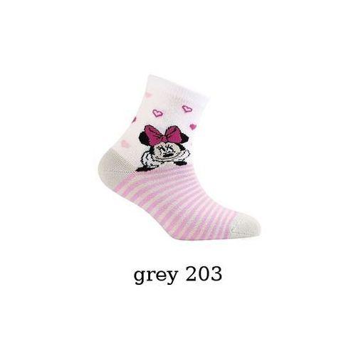 Skarpety Gatta Disney dziewczęce G24.01D 2-6 lat 21-23, biały/white 208, Gatta, kolor biały