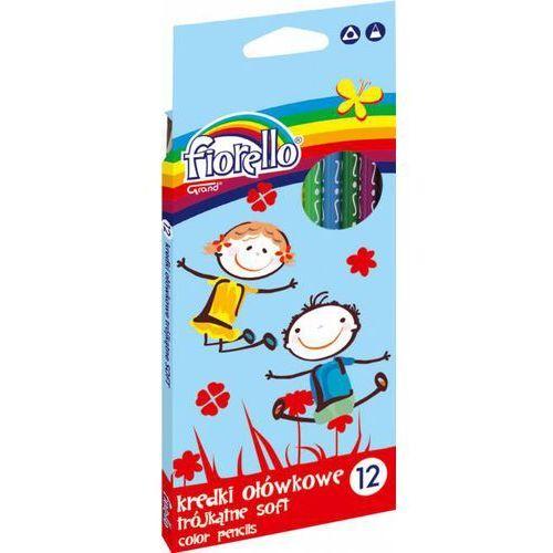 Kredki ołówkowe trójkątne super soft 24 kolory fiorello - x00667 marki Kw trade