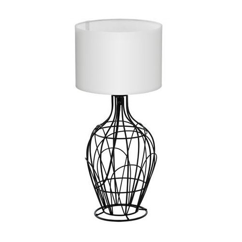 Eglo Stojąca lampa stołowa fagona 94607 abażurowa lampka nocna drut biała (9002759946074)