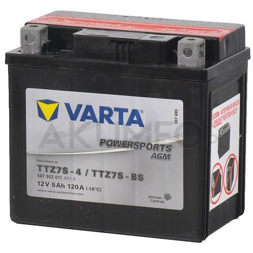 Varta Akumulator powersports agm ttz7s-bs 12v 5ah 120a prawy+