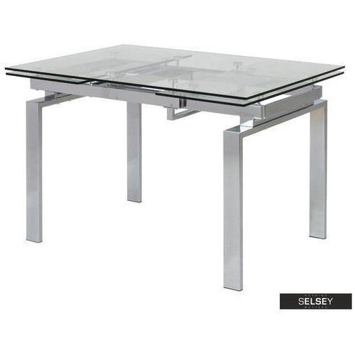 SELSEY Stół rozkładany Ediazo 120-200x85 cm szklany