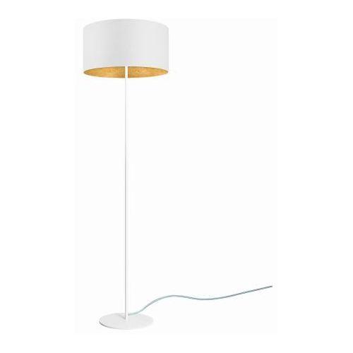 MIKA Elementary L 1/F Podłogowa Sotto Luce biały / płatki szlagmetalu imitujące złoto transparent biały