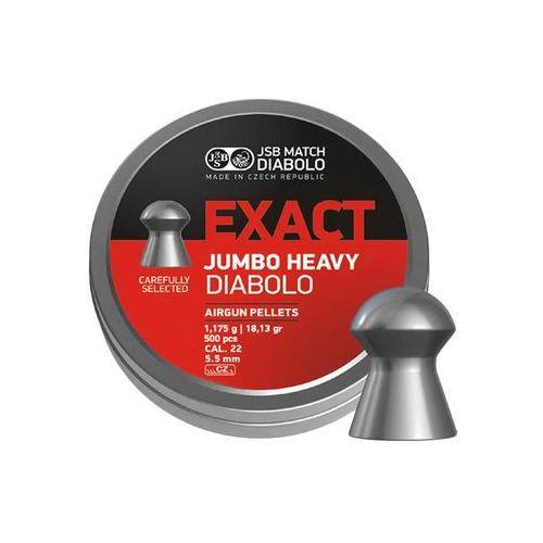 Śrut diabolo jsb exact jumbo heavy 5,52 mm 500 szt. marki Jsb match diabolo