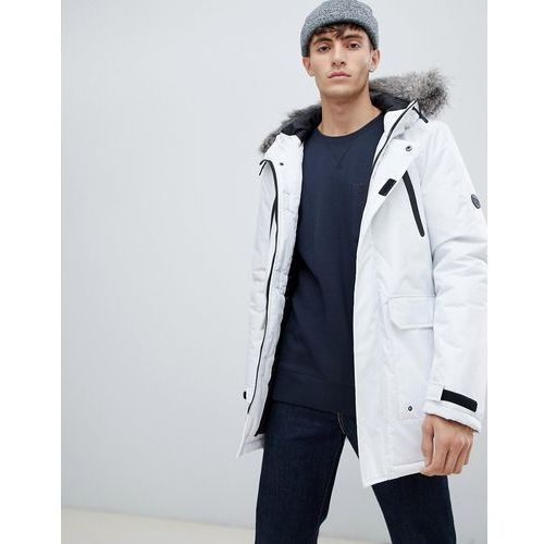 fur trimmed oversized mountain parka durable poly - white marki D-struct