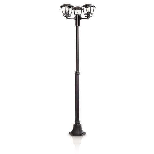 CREEK - Lampa stojąca Zewnętrzna 3 Źródła Światła Czarny, kolor Czarny