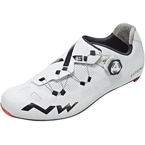 Northwave extreme gt buty mężczyźni biały 43 2018 buty szosowe zatrzaskowe (8030819022643)