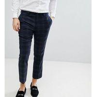 Noak Slim Wool Mix Cropped Trouser - Navy, kolor szary