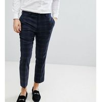 slim wool mix cropped trouser - navy, Noak