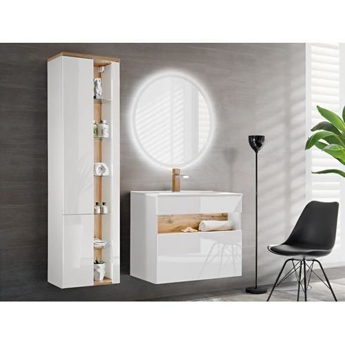 Shower design Zestaw luna - meble łazienkowe - kolor biały