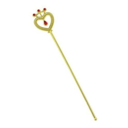 Różdżka złota z rubinem dla księżniczki - 37 cm - 1 szt. marki Go