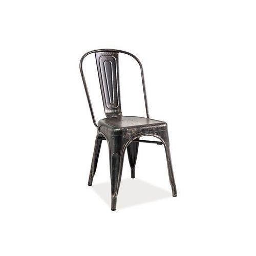 Krzesło loft czarny przecierany marki Signal
