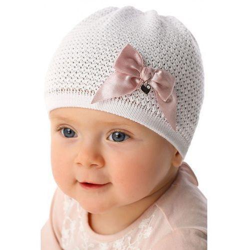 Czapka niemowlęca biała 5X34AY