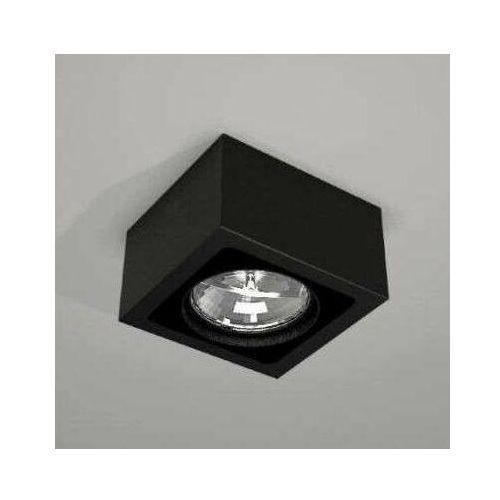 Spot LAMPA sufitowa UTO 1142 Shilo natynkowa OPRAWA metalowa do łazienki kostka cube czarna (5903689911429)
