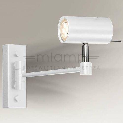 Shilo Kinkiet lampa ścienna fussa 7225 reflektorowa oprawa sufitowa regulowana tuba biała (5903689972253)