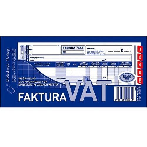 Faktura VAT 1/3 A4 typ 105-8 80k (o+k) Michalczyk i Prokop