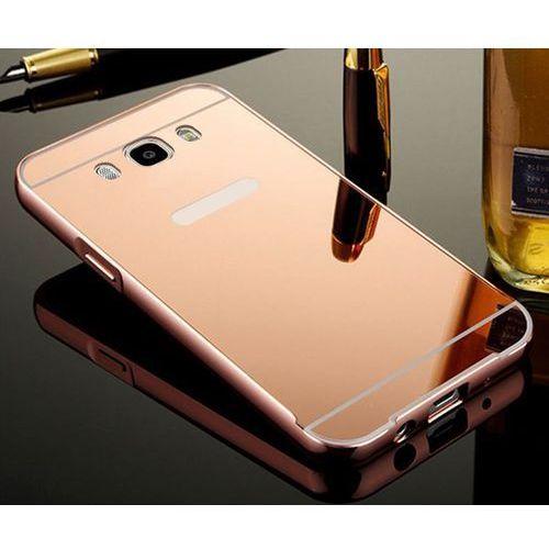 Mirror Bumper Metal Case Różowy   Etui dla Samsung Galaxy J1 (2016) - Różowy