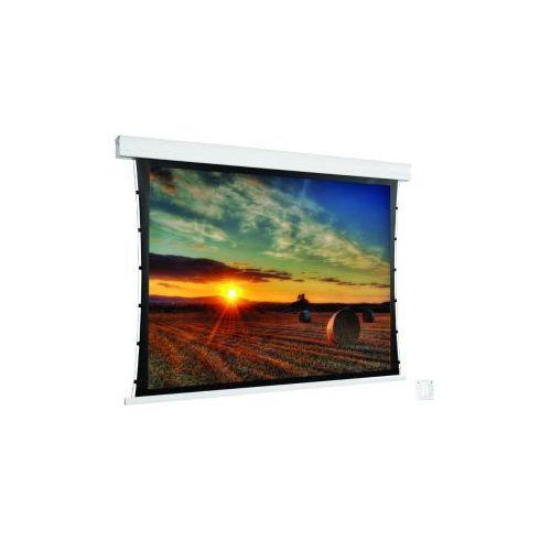 Ekran ścienny elektrycznie rozwijany z napinaczami cumulus x tension,270x152cm,16:9,matt white marki Avers