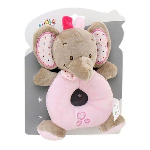 Grzechotka new baby słonik różowy 16 cm marki Axiom