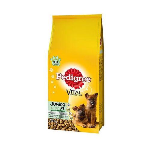 Pedigree 15kg vital protection kurczak i ryż karma dla szczeniąt ras dużych