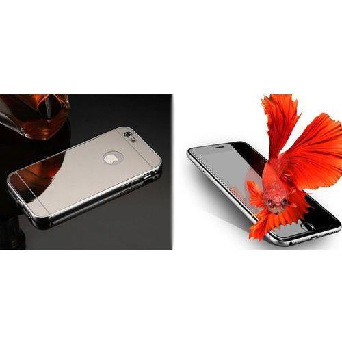 Zestaw   Mirror Bumper Metal Case Srebrny   Obudowa + Szkło ochronne Perfect Glass   dla modelu Apple iPhone 7