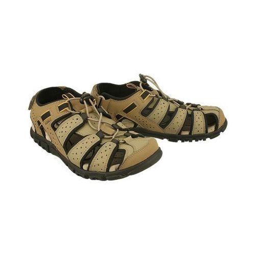 Geox u6224b s.strada c5004 piasek, sandały męskie - brązowy