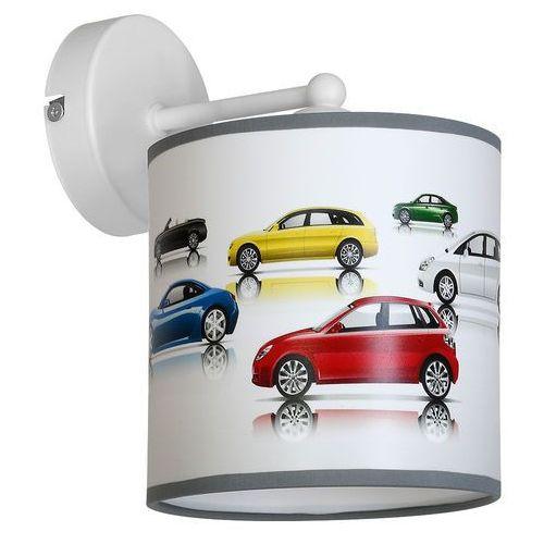 Kinkiet lampa oprawa ścienna Milagro Cars 1x60W E27 biały / multikolor 854 (5902693745983)