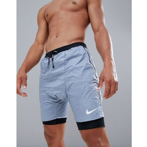 distance run division shorts in crinkle effect grey 928457-445 - grey, Nike running