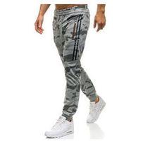 Spodnie męskie dresowe joggery szare Denley W1601, dresowe