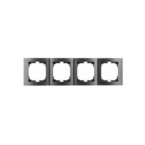 KANLUX LOGI 02-1540-041 grafit Ramka poczwórna pionowa 25301 (5905339253019)