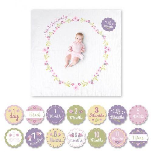 Zestaw kocyk + karty lulujo - lovely lj581 marki Lulujo baby