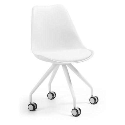 LaForma:: Krzesło obrotowe Lars białe - wzór 1, kolor biały