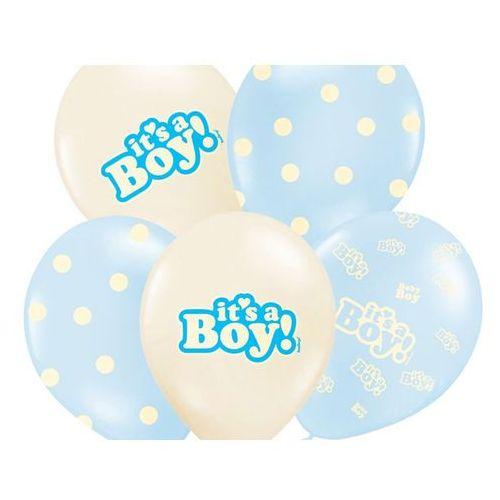 Balony pastelowe It's a Boy - 30 cm - 5 szt. (5907509902109)
