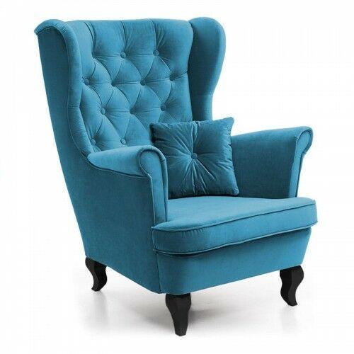 Fotel do sypialni skandynawski uszak 4 - 18 kolorów marki E-lozka