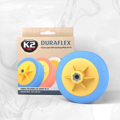 K2 Duraflex - niebieska gąbka polerska m14 gąbka mocnościerna, super trwarda (5906534008404)