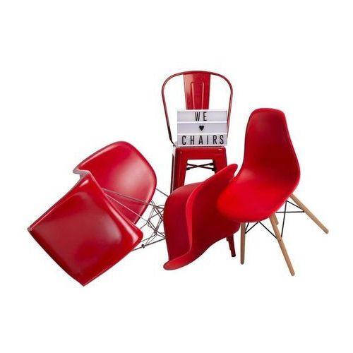Krzesło Balance PP czerwone, kolor czerwony