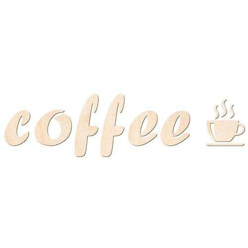 Congee.pl Dekoracja drewniana napis na ścianę coffee - 6 mm