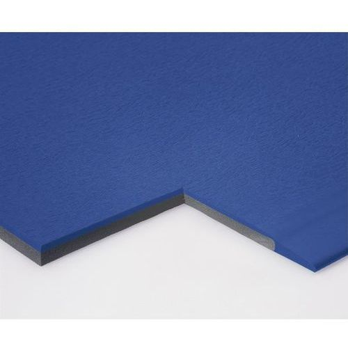 Mata zapobiegająca zmęczeniu, szer. 900 mm, na metr bieżący, niebieski. Redukują