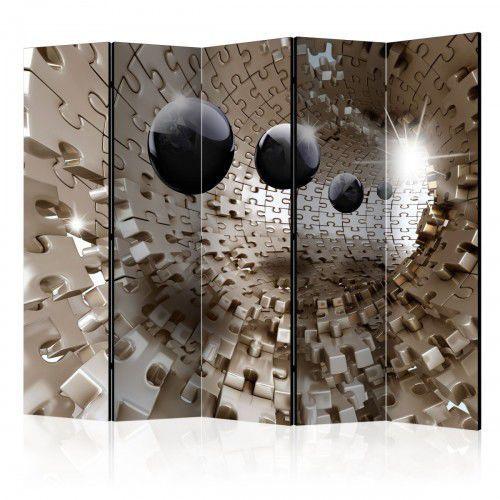 Parawan 5-częściowy - złota układanka ii [room dividers] marki Artgeist
