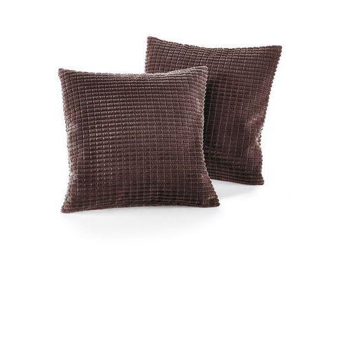 Narzuta na sofę w wypukły wzór brązowy marki Bonprix