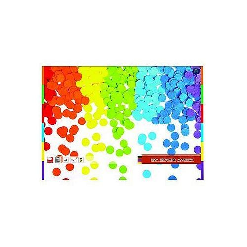 Blok techniczny a4 kolorowy garwolin 10ark. marki Interdruk