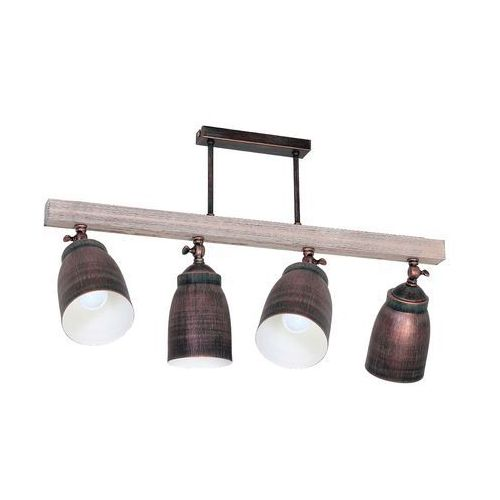 Plafon Luminex Alejo 9125 lampa sufitowa 4x60W E27 brązowy / miedziany, 9125