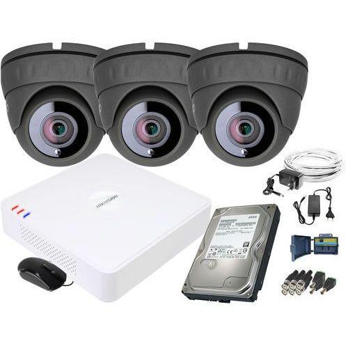 Zm11840 zestaw do monitoringu 3 kamery ir 25m rejestrator hikvision fullhd dysk 1tb marki Keeyo