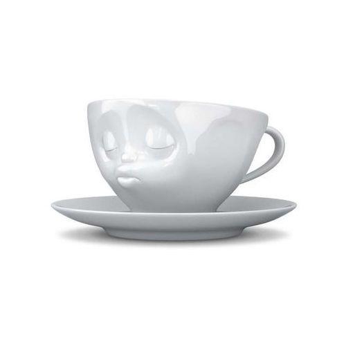 58products - filiżanka do kawy - całująca buźka - biała - 0,2 l - całująca buźka