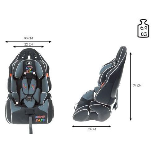 Fotelik samochodowy 9-36 kg KinderSafe Pro Comfort GE-G - Szary